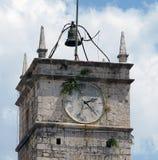 Watchtower in Croatia. Watchtower with clock on Supetar island in Croatia Royalty Free Stock Photos
