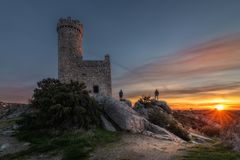 Watchtower in Dawn stock foto