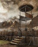 Watchtower in een oude regeling Royalty-vrije Stock Foto's
