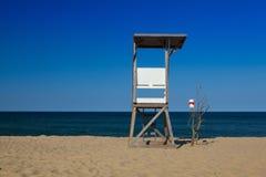 Watchtower on the empty beach, Cape Cod, Massachusetts, Stock Photography