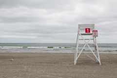 Watchtower on the empty beach in Middletown,Rhode Island, USA. Watchtower on the empty beach in Middletown, Newport County, Rhode Island, USA Royalty Free Stock Image