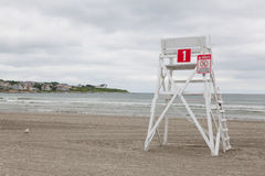Watchtower on the empty beach in Middletown,Rhode Island, USA. Watchtower on the empty beach in Middletown, Newport County, Rhode Island, USA Royalty Free Stock Photos