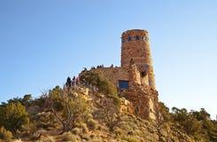 watchtower för sikt för kanjonöken storslagen arkivbild