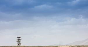 Watchtower för väghimmelblått Fotografering för Bildbyråer