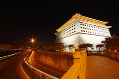 Watchtower in beijing night Royalty Free Stock Photography