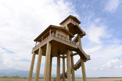 Watchtower  in the field Royalty Free Stock Photography