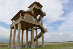 Watchtower  in the field Royalty Free Stock Image