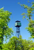 Watchtower in Fontainebleau forest royalty free stock photos