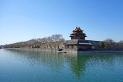 Watchtower in the Forbidden city Stock Images