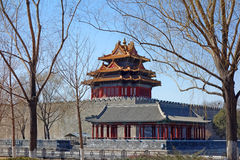 Watchtower in the Forbidden city Royalty Free Stock Photos