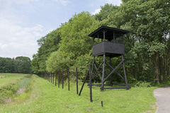 Watchtower at former concentration camp Westerbork Royalty Free Stock Photo