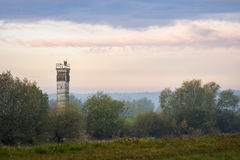 Watchtower at the former inner german Border Royalty Free Stock Images