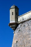 Watchtower on the fortress in Cartagena,Spain Royalty Free Stock Photos