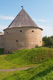 Watchtower of fortress in Old Ladoga Stock Image