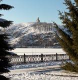 Watchtower at Fox Hill. Nizhny Tagil. Sverdlovsk region. Russia. Nizhny Tagil, Sverdlovsk region, RUSSIA - November 9, 2015: The building is a three-tiered Royalty Free Stock Image