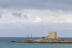 Watchtower in Gargano Stock Photos