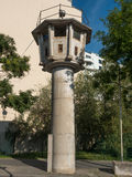 Watchtower of the GDR border in Berlin Stock Photo