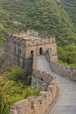Watchtower of the Great Wall with viewing platform Stock Photo