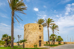 Watchtower i Alghero Arkivfoton