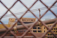 Watchtower - Jehovahs Witnesses former headquarter. Brooklyn Heights, New York city: This building is the former headquarter of the Jehovah`s Witness religious royalty free stock photography