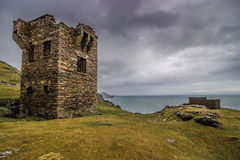 Watchtower. Located near the Slieve Liag cliffs in Co. Donegal, Ireland Stock Photo