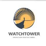 Watchtower logo template Stock Photo