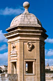 Watchtower Malta. The Vedette at Senglea Overlooking the Grand Harbour, Valletta, Malta Stock Photos