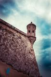 Watchtower Malta toned image. The Vedette at Senglea, Malta. Toned image Stock Photo