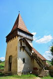 Watchtower of a medieval fortified church Stock Images