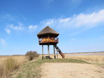 Watchtower on mound Royalty Free Stock Image