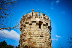 Watchtower of old ruin in Stuttgart Stock Images