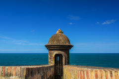 Watchtower Old San Juan. Puerto Rico la Perla royalty free stock photography