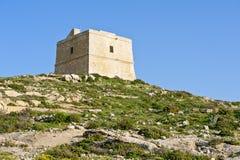 Watchtower på Gozo, Malta Royaltyfria Bilder