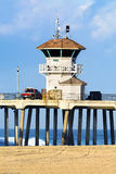 Watchtower on pier Stock Image