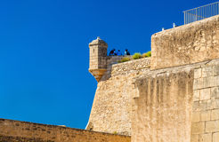 Watchtower of Santa Barbara Castle in Alicante, Spain Stock Photo