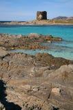 Watchtower in Sardinige stock foto's