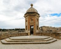 Watchtower in Senglea, Malta. Garden view. The Vedette at Senglea, Malta. Garden view Stock Image
