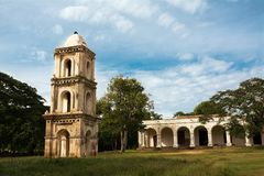 Watchtower of the slaves of the sugar fables San Isidro de los D. The Watchtower of the slaves of the sugar fables San Isidro de los Destiladeros in Manaca royalty free stock image