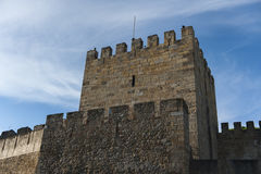 A watchtower on St George Castle in Lisbon, Portugal. A watchtower on São Jorge Castle in Lisbon Royalty Free Stock Photos