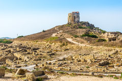 Watchtower in Tharros Stock Afbeeldingen