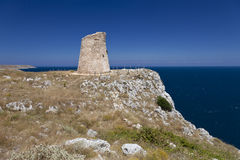 Watchtower on top of the cliff Stock Photography