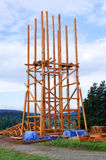Watchtower under construction Stock Images
