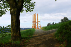 Watchtower under construction Royalty Free Stock Image