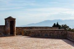Watchtower van Castillo DE Gibralfaro Stock Afbeelding