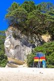 Watchtower van de badmeesterplicht op een strand royalty-vrije stock fotografie