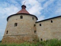 Watchtower van vesting Schlisselburg Stock Afbeelding