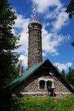Watchtower Zlaty Chlum in Jeseniky-bergen Stock Foto's