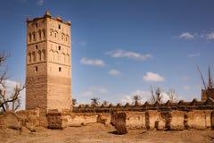 Watchtoweren av kasbah fördärvar in Skoura morocco Royaltyfria Foton