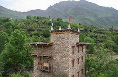 Watchtowers  in danba,sichuan,china Stock Photography