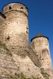 Watchtowers van het oude kasteel Royalty-vrije Stock Afbeeldingen